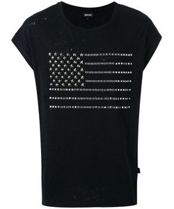 Just Cavalli | Studded Flag T-Shirt Size Large Cotton/Metal Other
