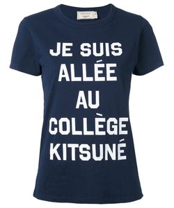 Maison Kitsuné | Front Print T-Shirt
