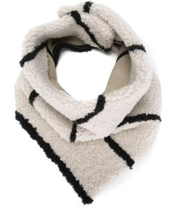 Sprung Frères | Striped Lamb Fur Scarf