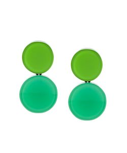 Monies | Colour Block Disc Clip-On Earrings