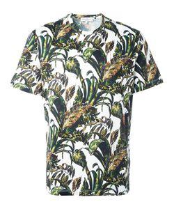 Salvatore Ferragamo | Foliage Print T-Shirt Medium Cotton