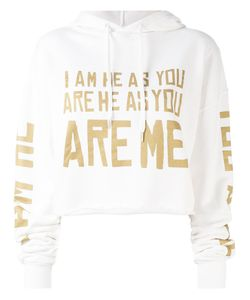Each X Other | Cropped Word Print Hoodie