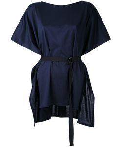 Taro Horiuchi | Belted Shortsleeved Blouse Cotton