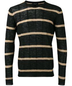 Roberto Collina | Striped Ribbed Sweater Size 50