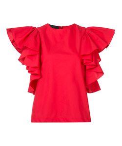 Co | Ruffled Sleeve Blouse Medium Tton