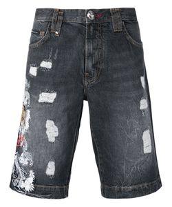Philipp Plein | Embroidered Tiger Shorts Size 31