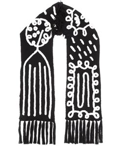 Claire Barrow | Fringe Embroidered Scarf