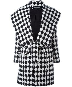 Balmain | Checked Belted Coat