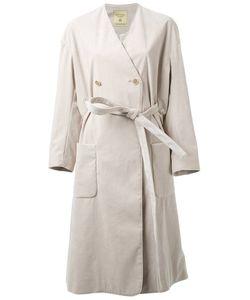 Fad Three | Collarless Trench Coat Medium