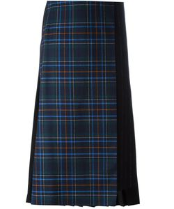 Cédric Charlier | Pleat Back Plaid Skirt