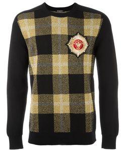 Balmain   Tartan Check Sweatshirt