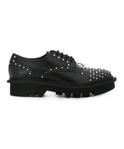 Neil Barrett | Piercing Detail Lace-Up Shoes 41 Chamois