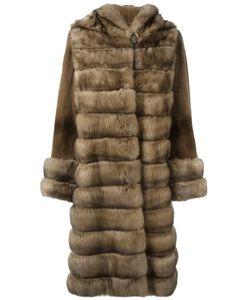 Liska   Hooded Fur Coat Medium