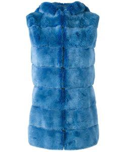 Liska   Hooded Mink Fur Gilet Large