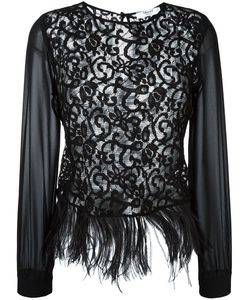 Blugirl | Feather-Embellished Lace Top