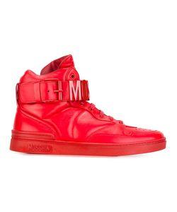 Moschino | Logo Plaque Hi-Top Sneakers 43