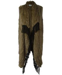 Meteo By Yves Salomon | Long Fringed Fur Gilet