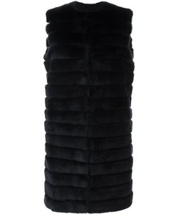 Meteo By Yves Salomon | Long Padded Fur Gilet