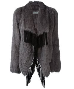 Meteo By Yves Salomon | Fringed Fur Coat 38