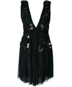 Jay Ahr | -Tone Flower Appliqué Dress