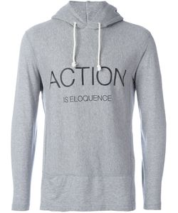 Ganryu Comme Des Garcons | Action Is Eloquence Printed Hoodie