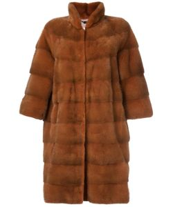 Manzoni 24 | Three-Quarters Snap Button Coat Mink