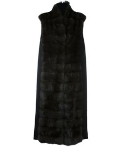 Manzoni 24 | Long Panelled Fur Coat