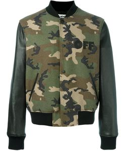 Off-White | Camouflage Print Bomber Jacket Small