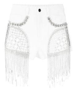 Amen | Embellished Denim Shorts 38