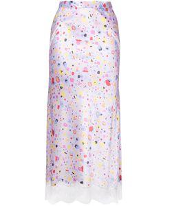 G.V.G.V. | Lace Trim Skirt 36 Rayon