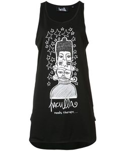 Haculla | Oversize Printed Vest Top Size Small