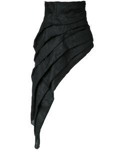 Aganovich | Asymmetric Skirt 36 Linen/Flax