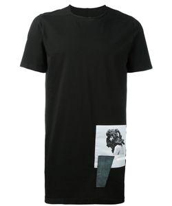 Rick Owens DRKSHDW   Printed Hem T-Shirt Size Medium