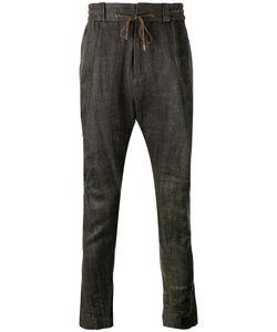 Devoa | Drawstring Drop-Crotch Trousers Size 2