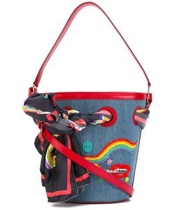 Olympia Le-Tan | Smoking Lip Embroidered Bucket Tote
