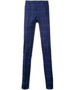 Pt01 | Super Slim Checked Trousers Size 48
