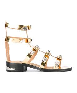 Toga | Embellished Gladiator Sandals Size 39