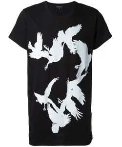 Ann Demeulemeester Blanche | Bird Print T-Shirt Small Cotton
