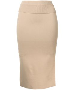 Dion Lee | Suspended Ribbed Pencil Skirt 6 Rayon/Nylon