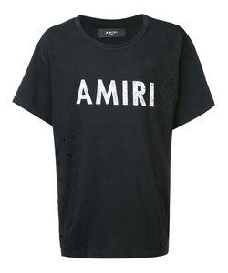 Amiri   Destroyed Effect Logo T-Shirt