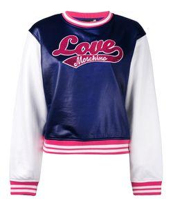 Love Moschino   Logo Patch Sweatshirt Size 40