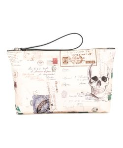 Alexander McQueen | Postcard And Skull Print Clutch