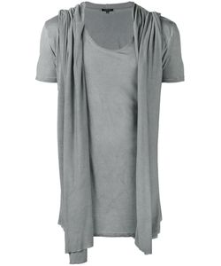 Unconditional | Draped Hooded Waistcoat T-Shirt