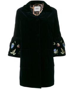 Bazar Deluxe | Velvet Embroidered Sleeve Coat Women