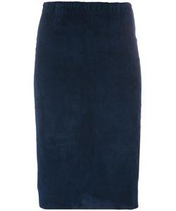 Stouls | Gilda Pencil Skirt Small Cotton/Suede/Spandex/Elastane/Lyocell