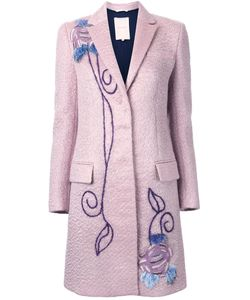 Roksanda | Embroidered Single Breasted Coat