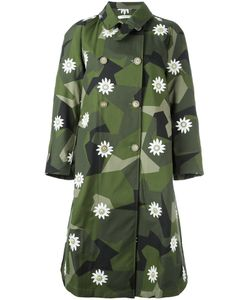 Ermanno Gallamini | Daisy Printed Trench Coat Women Small