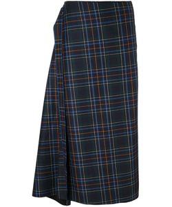 Cédric Charlier | Checked Asymmetric Skirt
