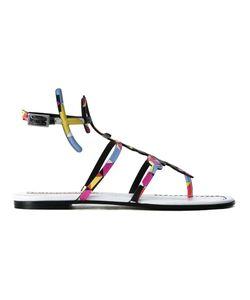 Emilio Pucci | Printed Ankle Strap Sandals