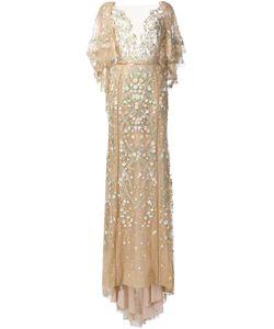 Marchesa | Embroidered Flower Gown 10